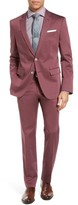 BOSS Men's Janon/lenon Trim Fit Solid Stretch Cotton Suit