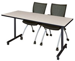 """Marin Mobile Training Table Symple Stuff Size: 29"""" H x 48"""" L x 24"""" W, Tabletop Finish: Gray"""