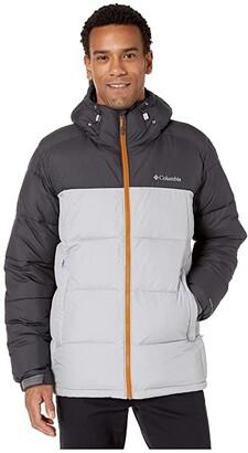 Columbia Pike Laketm Hooded Jacket Grey/Shark/Burnished Amber) Men's Coat