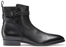 Leather Chelsea boots with buckled ankle strap