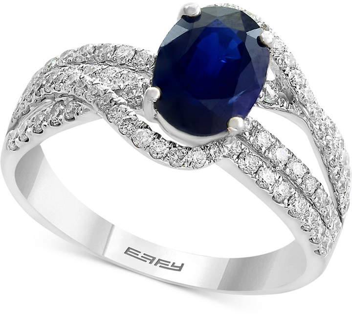 Effy Royale Bleu by Sapphire (1-3/8 ct. t.w.) and Diamond (3/4 ct. t.w.) Ring in 14k White Gold