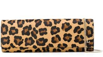 L'Autre Chose Leopard Print Clutch Bag