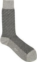 Reiss Schranger Textured Herringbone Socks