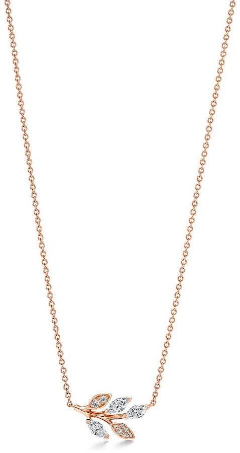 Tiffany & Co. Victoria diamond vine pendant in 18k rose gold