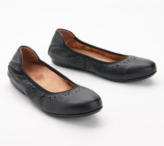 Vionic Leather Perforated Flats - Geneva