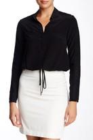 Rebecca Taylor Long Sleeve Silk & Eyelet Blouse
