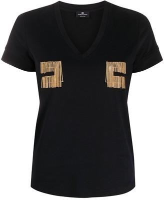 Elisabetta Franchi embroidered details T-shirt