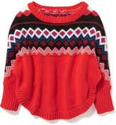 Old Navy Fair Isle Poncho for Toddler