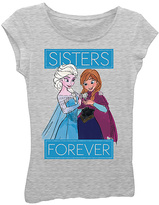 Freeze Frozen Heather Gray Elsa & Anna 'Sisters Forever' Tee - Kids