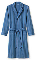 Lands' End Men's Broadcloth Robe-Khaki