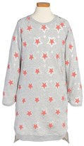 Stella McCartney 'Irina' Star Print Sweatshirt Dress (Toddler Girls, Little Girls & Big Girls)
