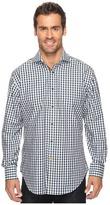 Thomas Dean & Co. Long Sleeve Textured Check Sport Shirt
