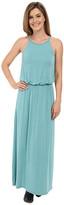 Stetson Turquoise Rayon Spandex Maxi Dress