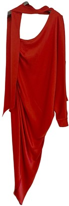 RALPH & RUSSO Red Silk Dresses