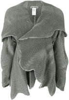 Issey Miyake embroidered flared jacket