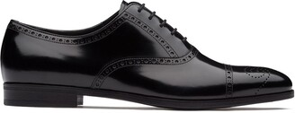 Prada brushed fume leather Oxford shoes