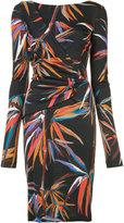 Emilio Pucci printed fitted dress - women - Viscose/Silk - 44