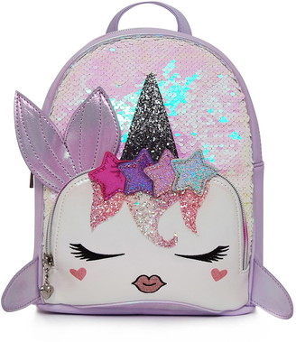 OMG Accessories OMG Nelly Sequin Narwhal Mini Backpack