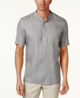 Alfani Men's Diamond-Print Band-Collar Shirt, Only at Macy's