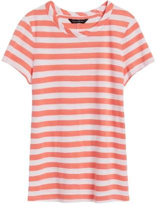 Banana Republic Slub Cotton-Modal Stripe T-Shirt