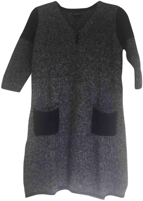 Berenice Blue Wool Dress for Women