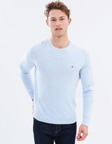 Tommy Hilfiger Cotton Linen Heather Crew Neck Sweater