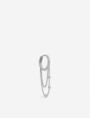 THE ALKEMISTRY Kismet By Milka 14ct white gold and diamond hoop earrings