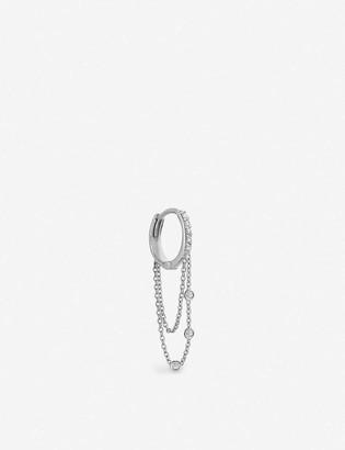 The Alkemistry Kismet By Milka 14ct white gold and diamond hoop earrings