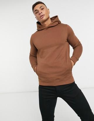 Burton Menswear overhead hoodie in brown