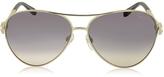 Roberto Cavalli Muphrid 920S-A Metal Aviator Sunglasses w/Crystals