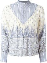 Sea patterned blouse - women - Silk/Cotton - 2