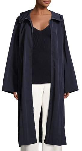 The Row Haylen Textural Nylon Coat, Navy