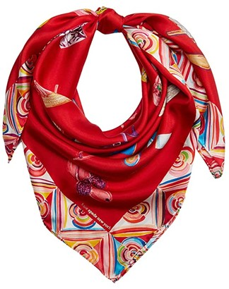 Kate Spade Shoe Square Scarf (Red) Scarves