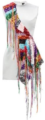 Germanier - Recycled Sequin-strand Satin Mini Dress - Black Multi