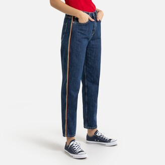 Benetton Mom Jeans with Coloured Side Stripes