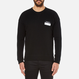 Ami Men's Oversized Crew Neck Sweatshirt Black
