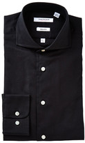 Isaac Mizrahi Black Oxford Long Sleeve Slim Fit Shirt