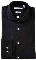Isaac Mizrahi Black Oxford Slim Fit Shirt