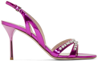 Miu Miu Pink Crystal Sandals