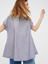 Free People Crazy Hearts Chambray Top