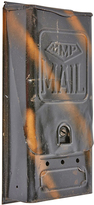 Rejuvenation Stamped Steel Mailbox w/ Faux Copper Flash Finish