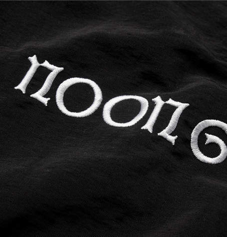 Noon Goons Oversized Embroidered Faille Hooded Windbreaker