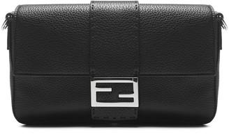Fendi FF Logo Plaque Baguette Bag