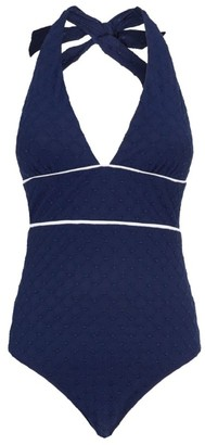 Heidi Klein New Haven Halterneck Plunge Swimsuit