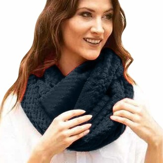 Weant Clothing Accessories Fashion Infinity Scarf with Pocket Weant Unisex Infinity Loop Scarf Winter Warm Knit Couple Scarf Travel with Hidden Zipper Pocket Soft Zipper Solid Secret Pocket Scarves Wrap Shawl Scarf Long Stole