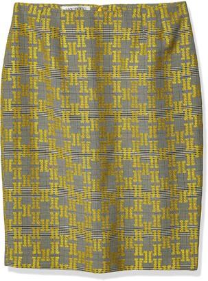 Kasper Women's Jacquard Plaid Skirt