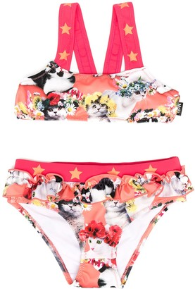 Molo Flower Power Cat-Print Bikini
