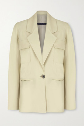ZEYNEP ARCAY Leather Blazer - Cream