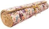 Holistic Silk Yoga Rug Mat Floral