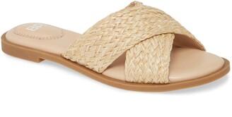 BP Winnie Woven Flat Slide Sandal
